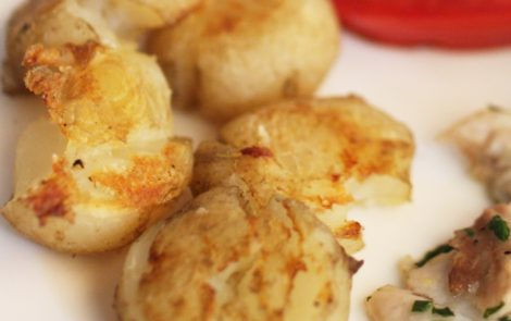 roasted new baby potatoes
