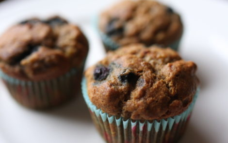 banana blueberry (or chocolate chip) muffins